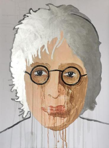The Noir de l'Ermite  BM John Lennon Silver 90 x 120 cm Mixed Media